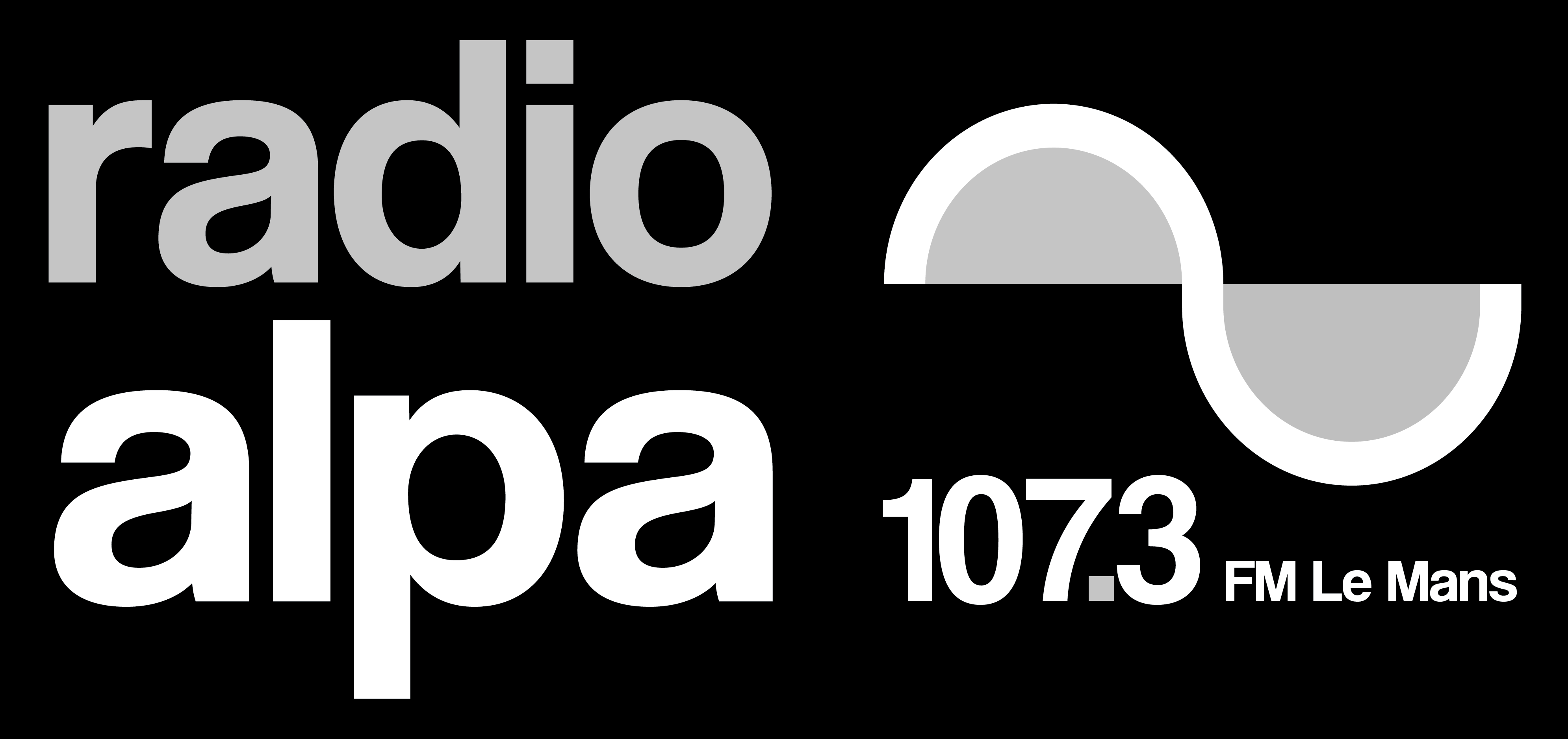 logo radio alpa horizontal-n&b
